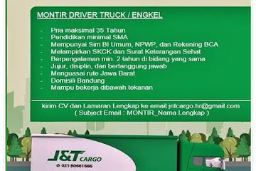Loker Bandung Montir Driver Truck/ Engkel J&T Cargo