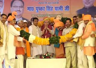 CM Pushkar Dhaani in laskar , Haridwar, inaugurated several projects