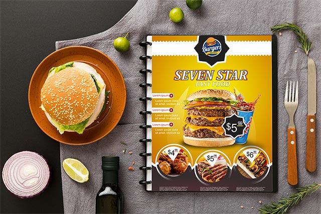 Fast Food Restaurant Flyer Design Templates Cdr file free Download