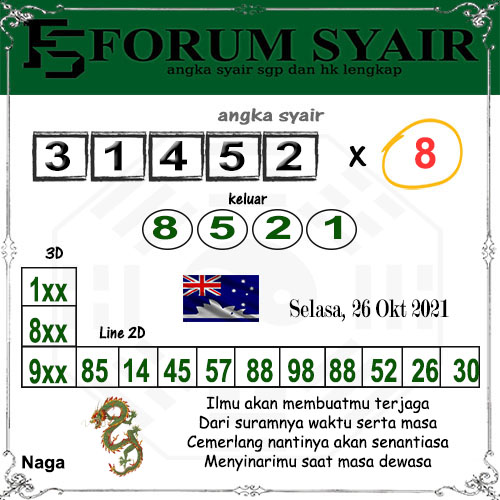Forum syair Sidney Selasa 26 Oktober 2021
