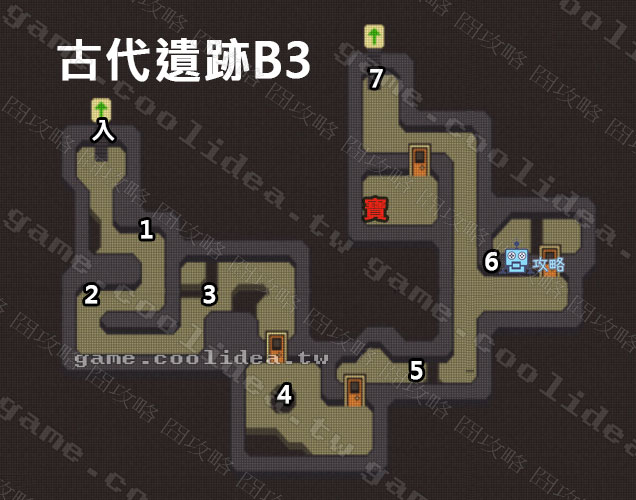 古代遺跡攻略地圖B3F