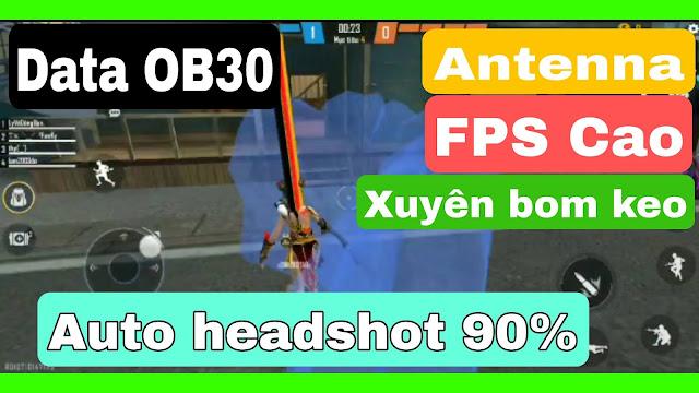 Mod Fps Cao free fire ob30 + antenna