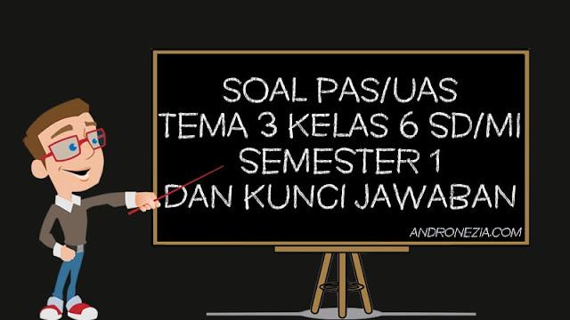 Soal PAS/UAS Tema 3 Kelas 6 SD/MI Semester 1 Tahun 2021