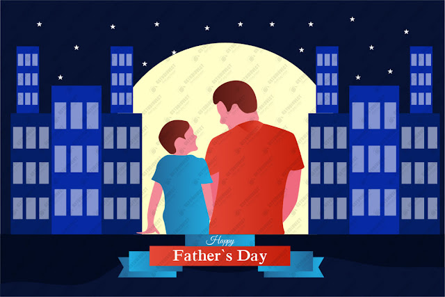 Happy father's day illustration free vector download