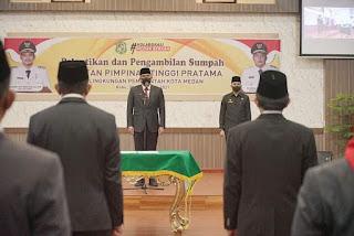 Wali Kota Medan Lantik 11 Pejabat Pimpinan Tinggi Pratama