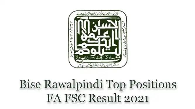 BISE Rawalpindi Board HSSC Inter FSc FA Top Position Holders 2021