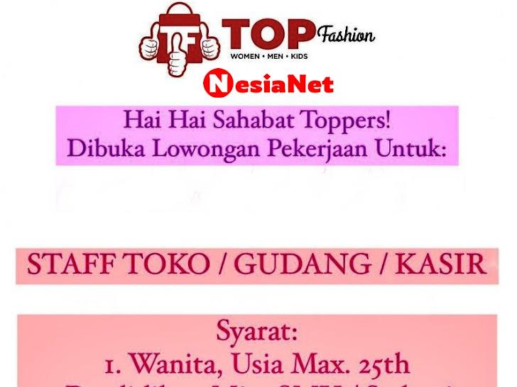 Lowongan Kerja Top Fashion Mataram Lombok NTB