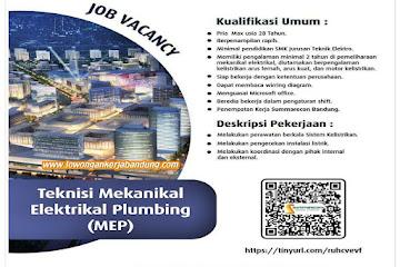 Loker Bandung Teknisi Mekanikal Elektrikal Plumbing Summerecon