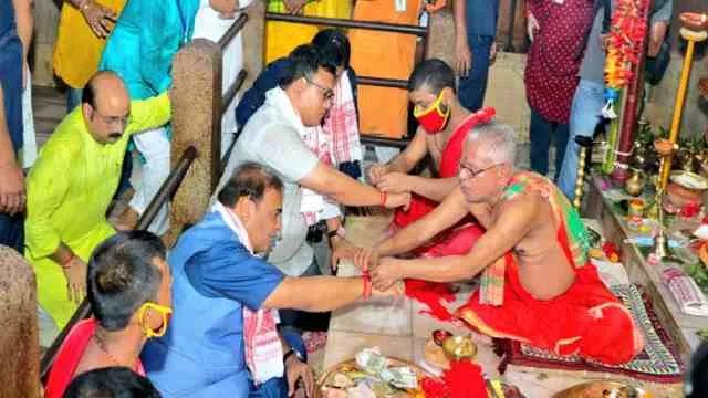 माननीय मुख्यमंत्री डॉ. हिमांता बिस्वा शर्मा और मंत्री रंजीत कुमार दास कोकराझार जिले में आज BTR  EM  अरूप कुमार डे।