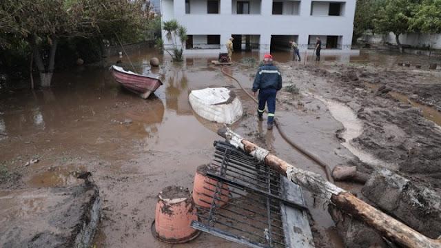 """Μεγάλες οι καταστροφές στη Βόρεια Εύβοια από την κακοκαιρία """"Αθηνά"""" (βίντεο)"""