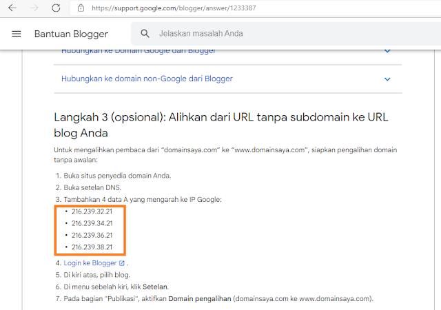 setting domain blog