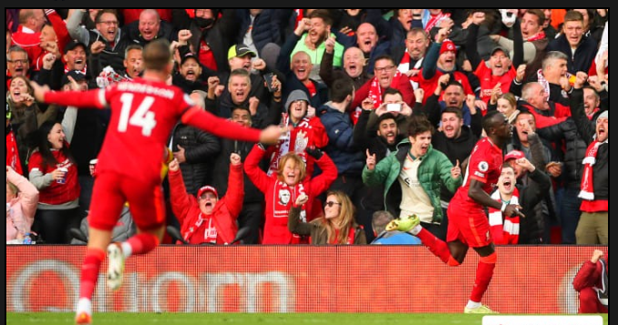 Liverpool hammer Watford in the Premier League to top the table