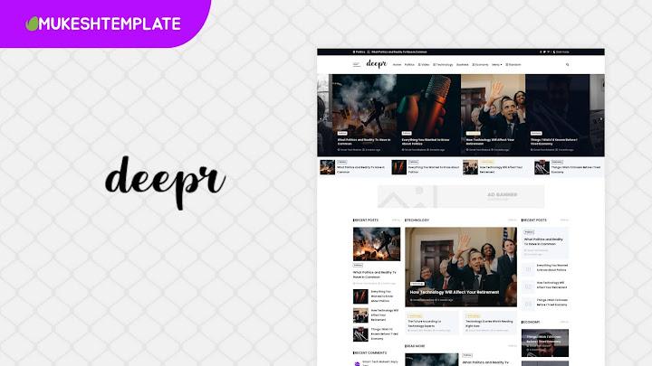 Deepr Newspaper - Premium Blogger Template