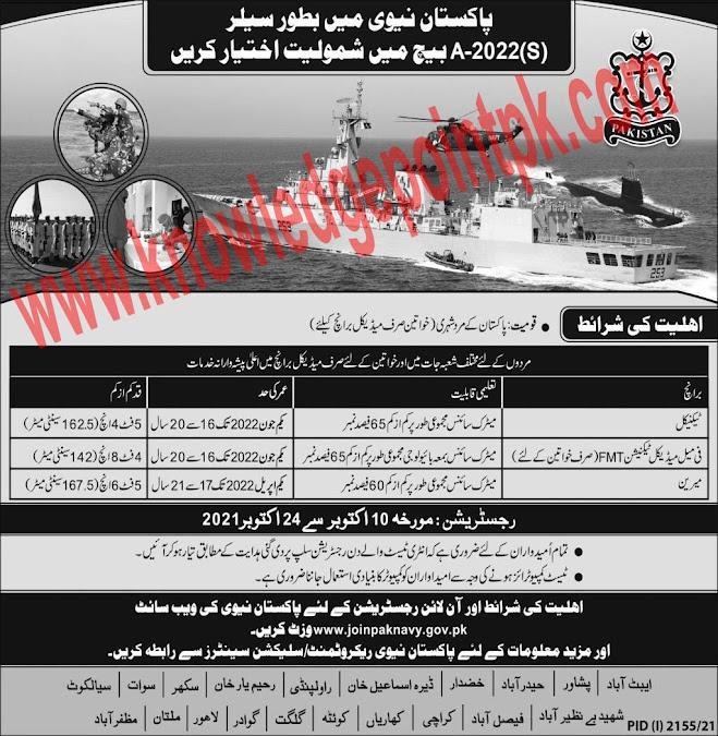 Join Pak Navy as Sailor Latest Jobs 2021 – Apply Online www.joinpaknavy.gov.pk