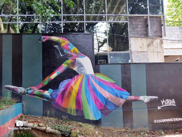 Close-up do belo Grafite Yasmin da Escadaria das Bailarinas - Pinheiros