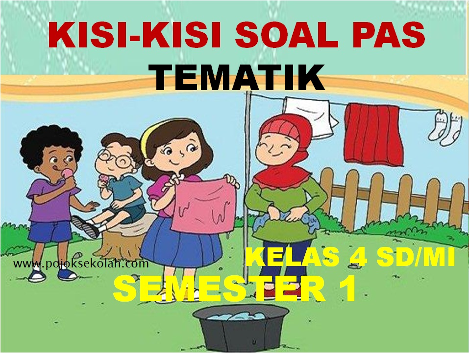 Kisi-kisi Soal PAS Tematik Kelas 4 SD/MI