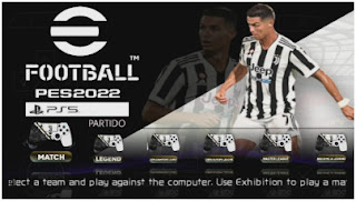 Download eFootball PES 2022 PPSSPP Juventus Edition Menu Update Best Graphics & New Transfer