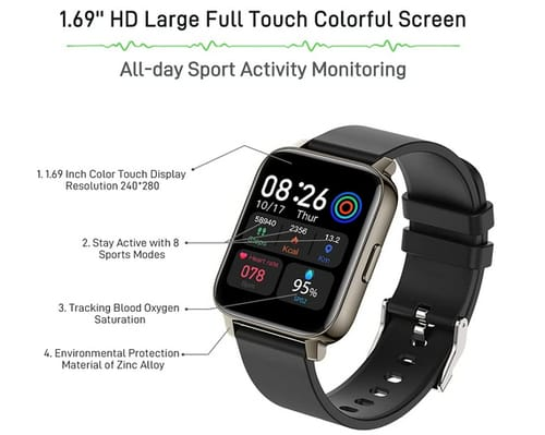 Doubc p36E2 HD Full Touch Screen Fitness Smart Watch