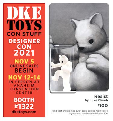 Designer Con 2021 Exclusive Resist Resin Figure by Luke Chueh x DKE Toys