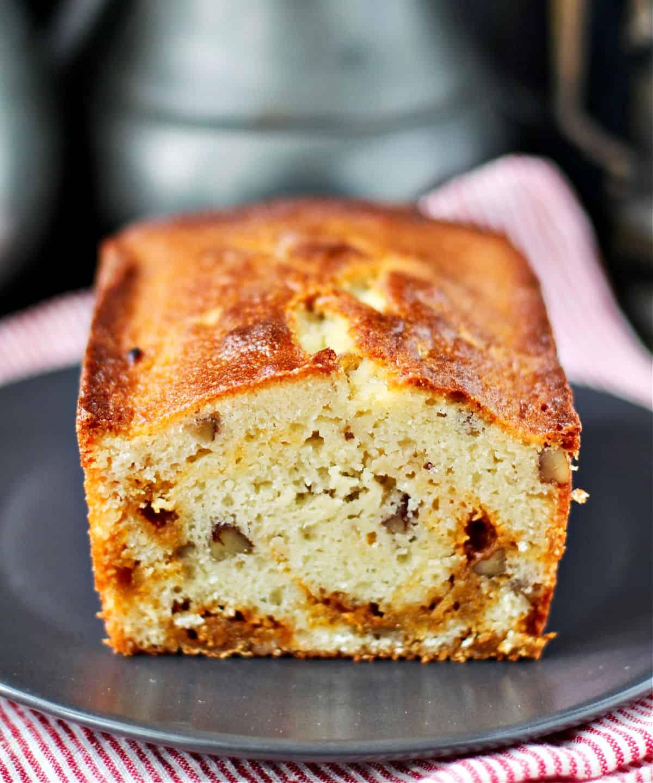 Butterscotch Pecan Cake crumb shot.
