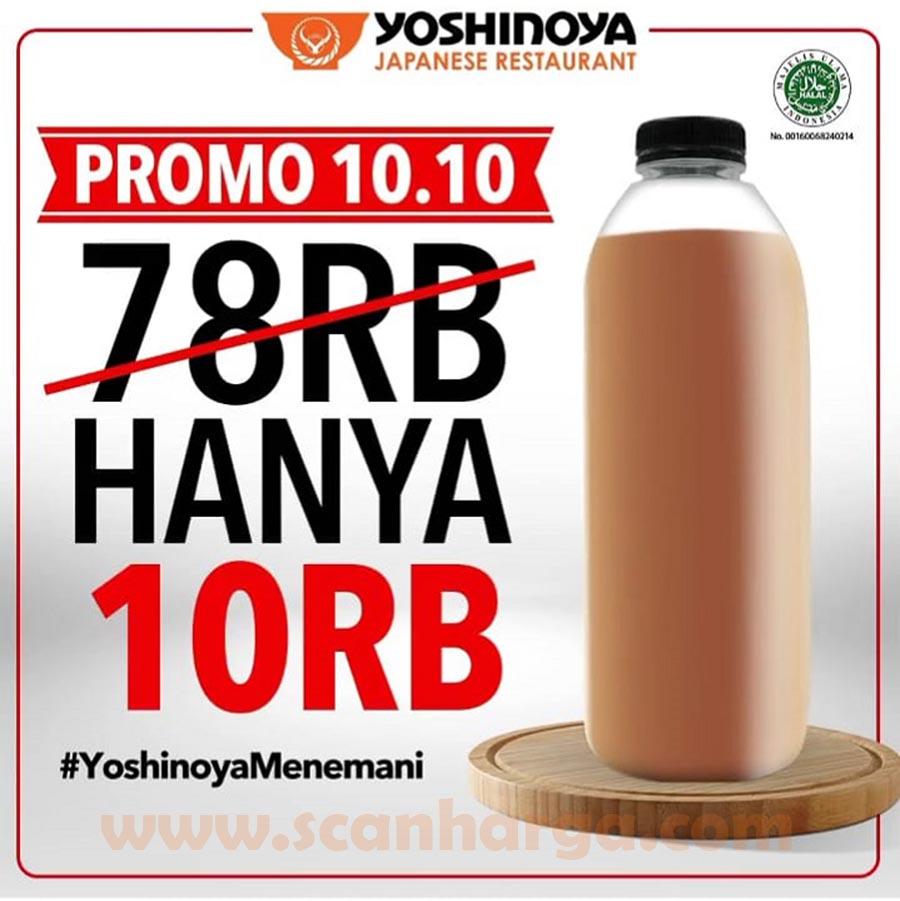 Promo Yoshinoya 10.10 Minuman Botol 1 Liter hanya Rp. 10RIBU aja