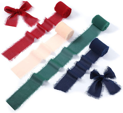 Multicolor Green Chiffon Ribbons for DIY Crafts and Party Decorations