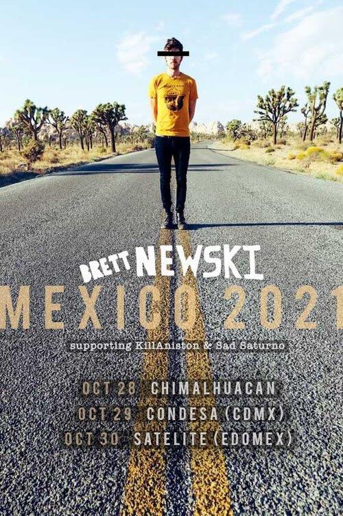 BRETT NEWSKI   traerá su desenfadado rock por primera vez a México  con 3 fechas en Gira en KAsas