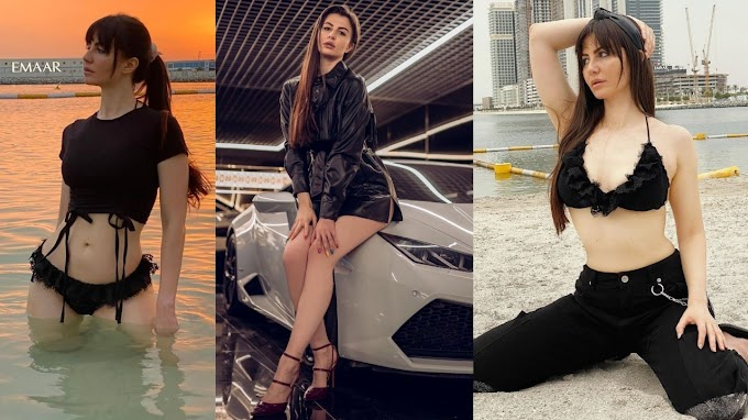 Check Out 5 Black outfits of Actress Giorgia Andriani that will make you go flutter behind her hotness