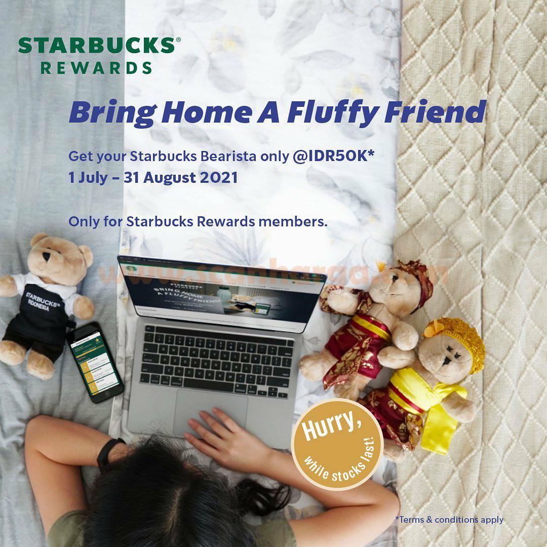 Promo Starbucks Bearista hanya Rp. 50.000 dengan Starbucks Rewards