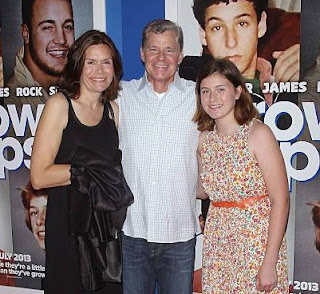 """Sportscaster Dan Patrick and family attend the """"Grown Ups 2"""" New York Premiere at AMC Lincoln Square Theater on July 10, 2013 in New York City"""