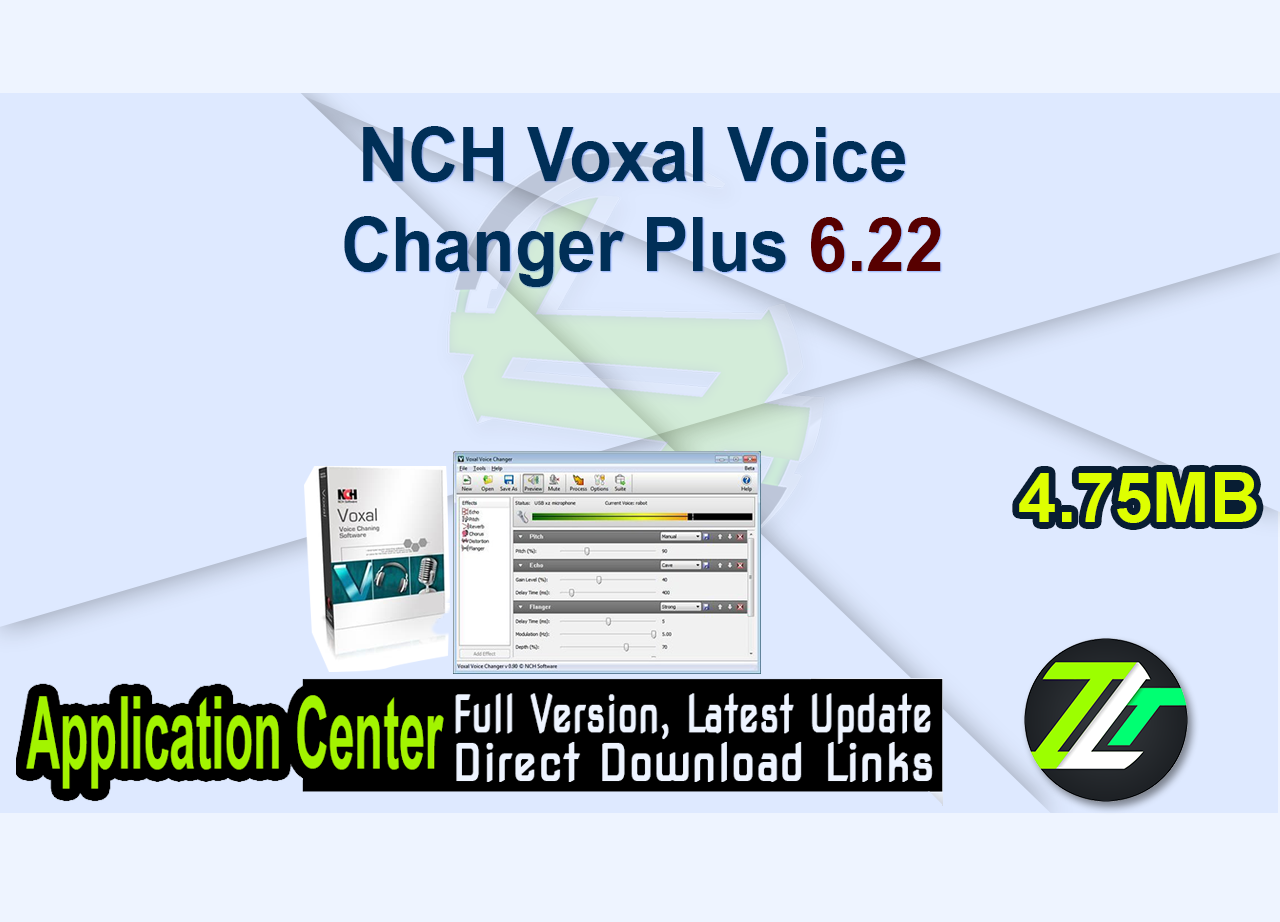 NCH Voxal Voice Changer Plus 6.22