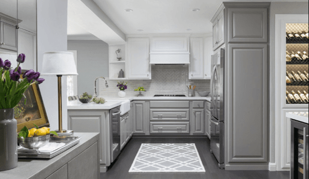 kitchen cabinets two color
