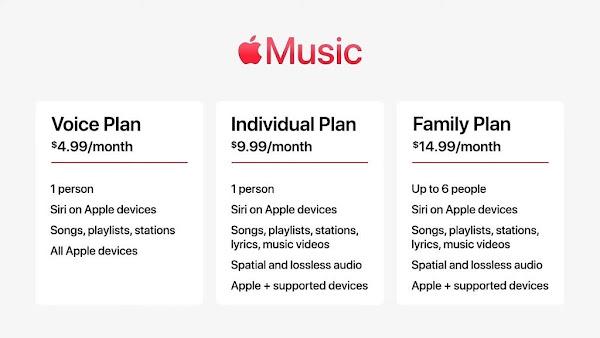 Apple anuncia novo Plano de Voz para o Apple Music
