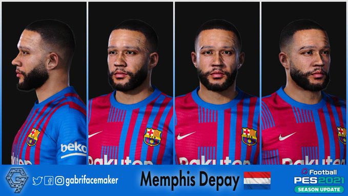Faces Memphis Depay For eFootball PES 2021