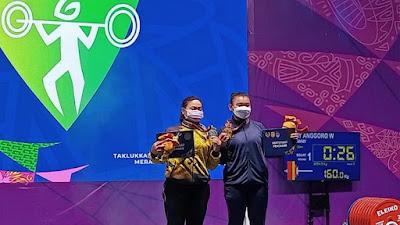 Angkat Berat Putri Jabar Raih Emas di Nomor 63 Kg, Lampung Dapat Perak