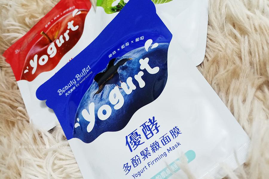 Yogurt Mask Bauan Buah-Buahan, Beauty Buffet by Watsons, Yogurt Moisturizing Mask, Yogurt Brightening Mask, Yogurt Firming Mask, best ke mask yogurt,