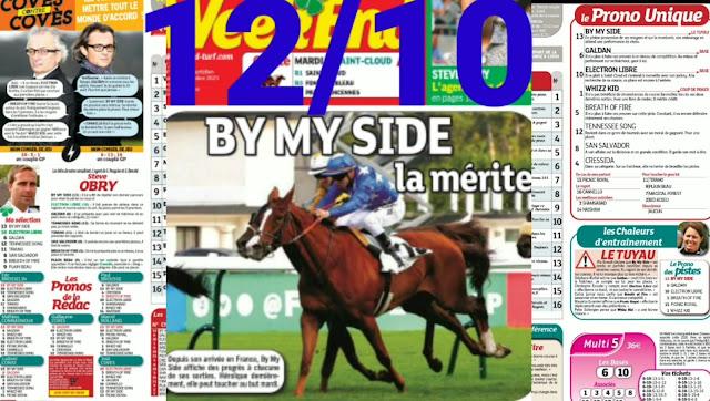 programme quinté+ Pronostic quinté Mardi 12/10/2021