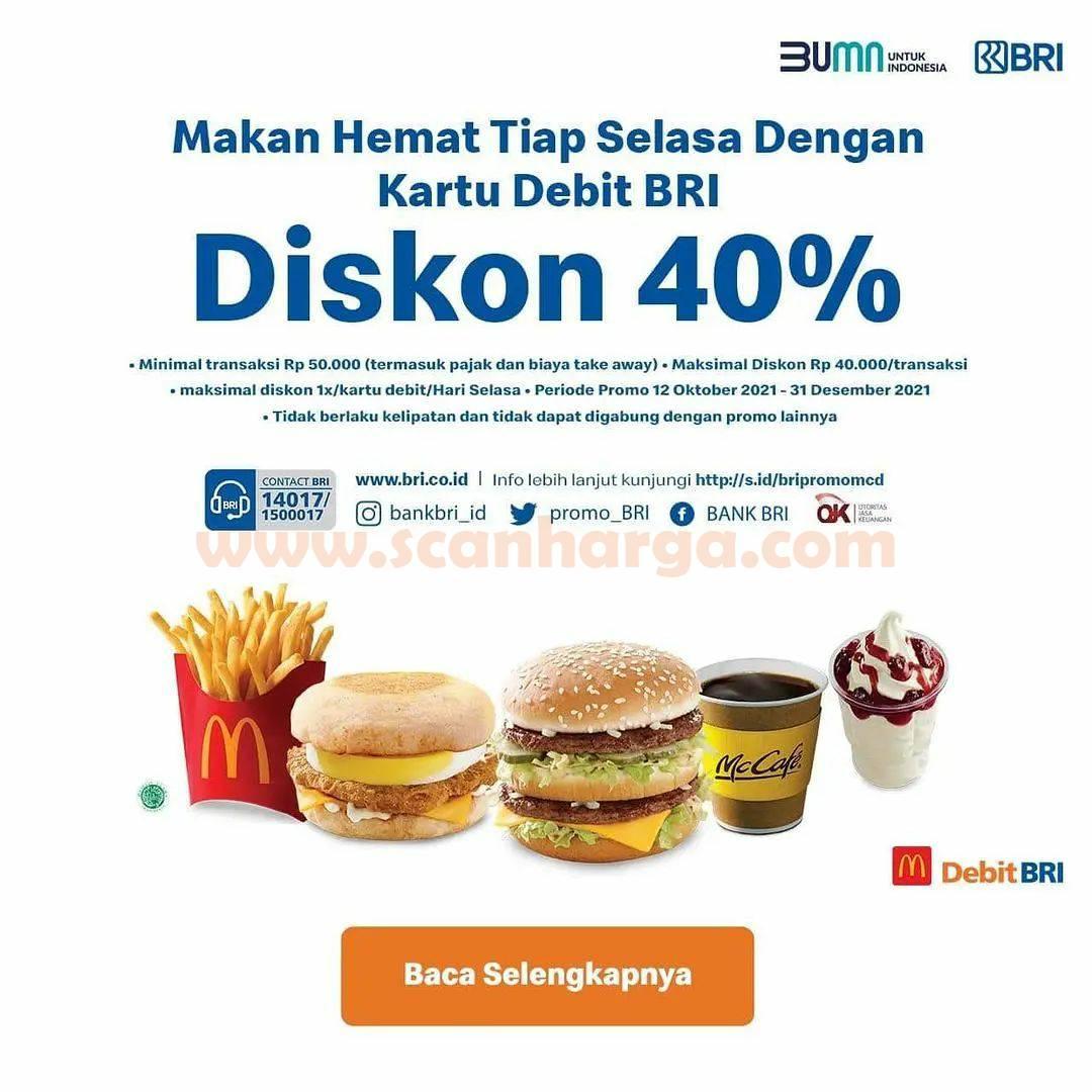 McDonalds Promo Makan Hemat tiap Selasa Diskon 40% dengan kartu Debit BRI