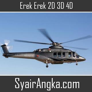 Erek Erek Helikopter 2D 3D 4D di Buku Mimpi dan Kode Alam