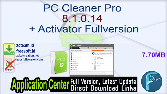 PC Cleaner Pro 8.1.0.14 + Activator Fullversion