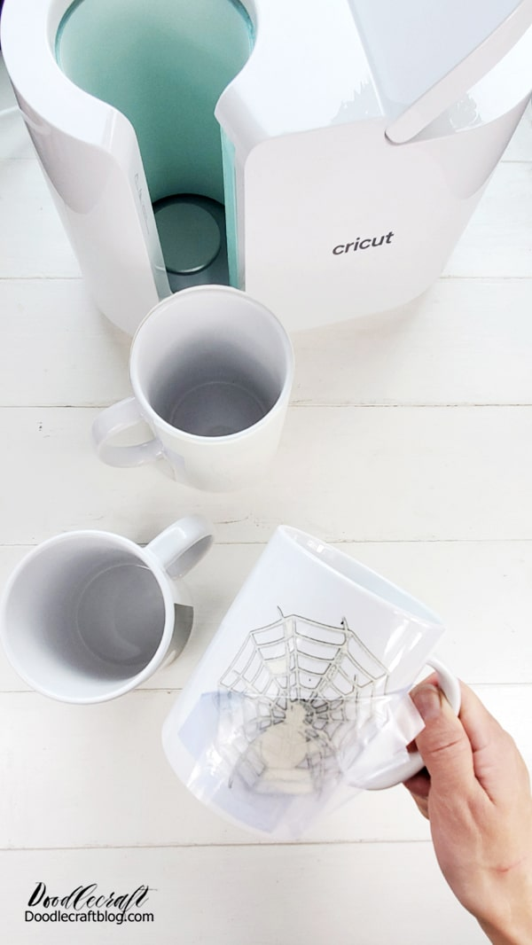 Work on the other mugs while you are waiting for it to cool down, that helps.