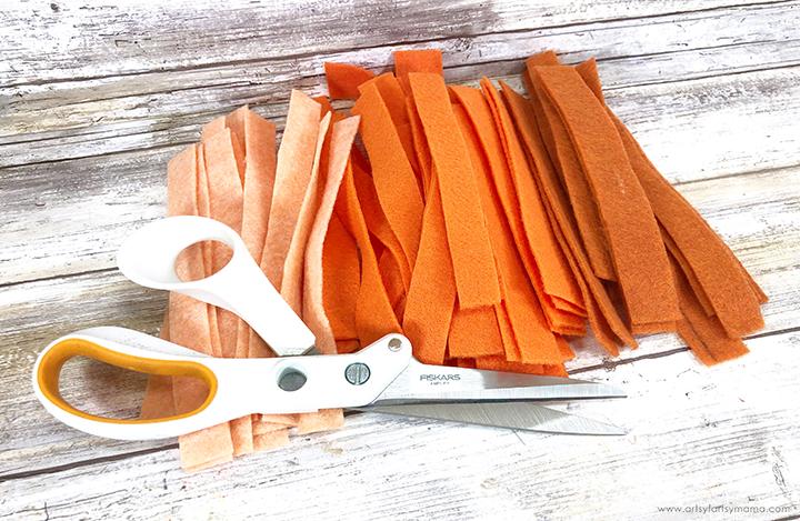Orange Felt Strips