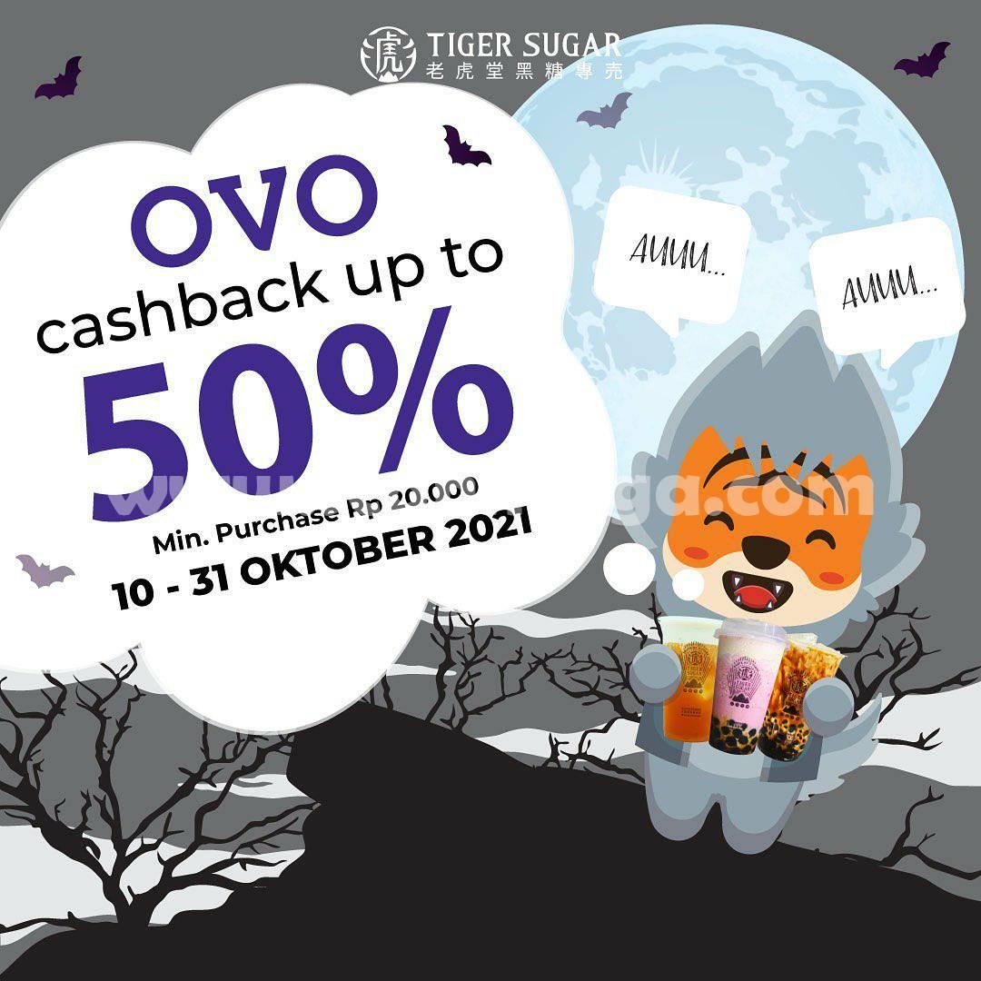 Promo TIGER SUGAR Cashback Up to 50% Transaksi pakai Gopay