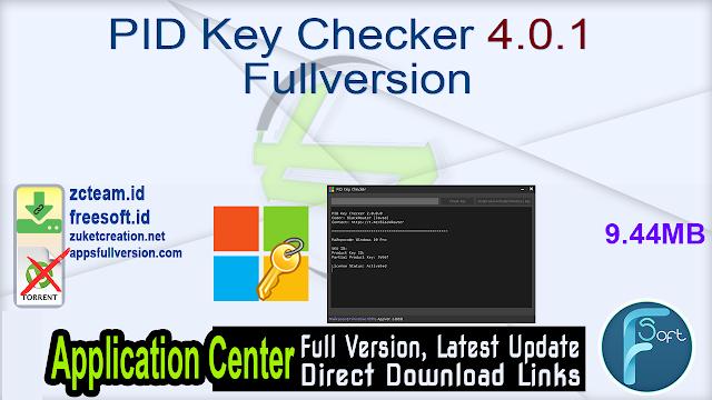 PID Key Checker 4.0.1 Fullversion