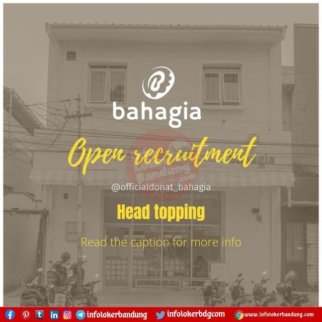 Lowongan Kerja Head Topping Donat Bahagia Bandung Agustus 2021