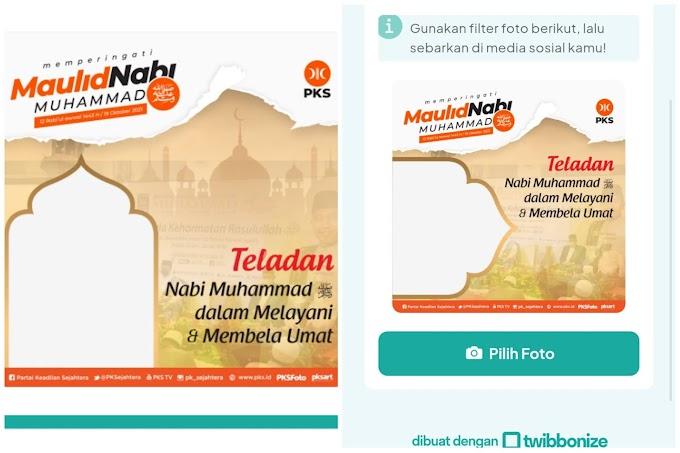 """Twibbon """"Maulid Nabi Muhammad"""""""