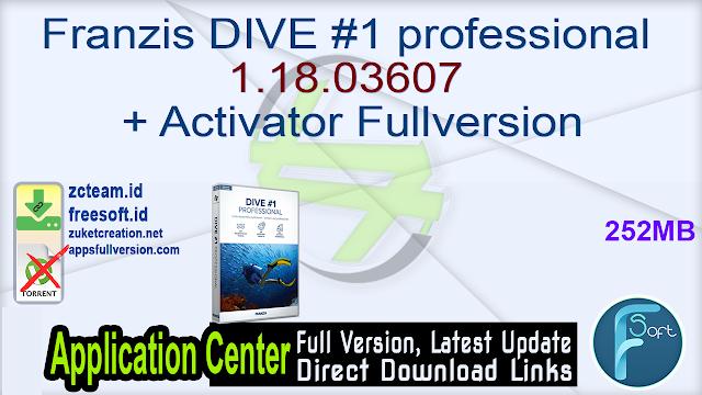 Franzis DIVE #1 professional 1.18.03607 + Activator Fullversion