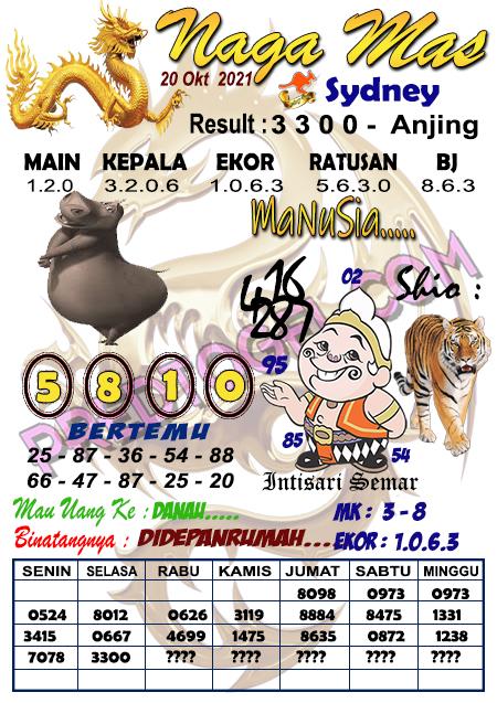 Syair Nagamas Sdy Rabu 20 Oktober 2021