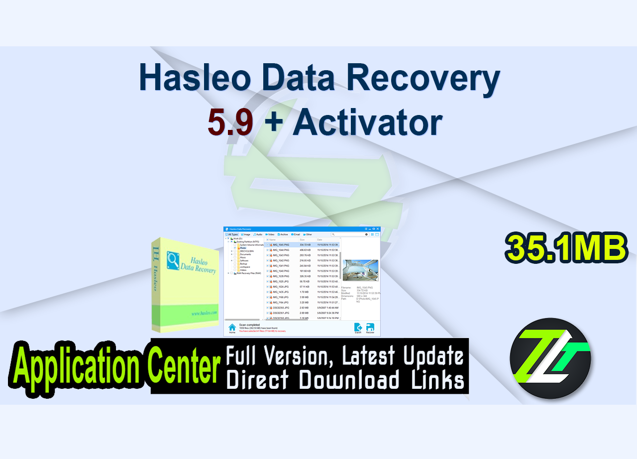 Hasleo Data Recovery 5.9 + Activator