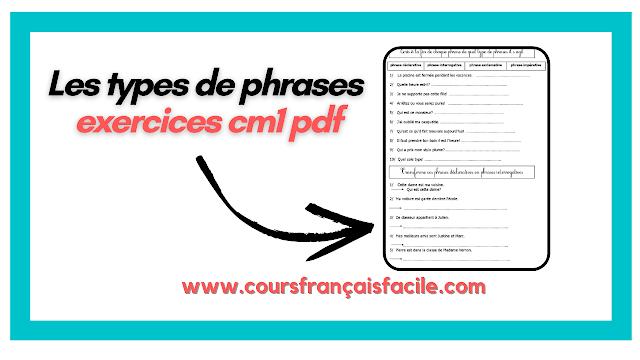 types de phrases exercices pdf